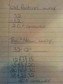 old new way common core