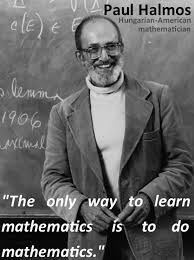 halmos quote