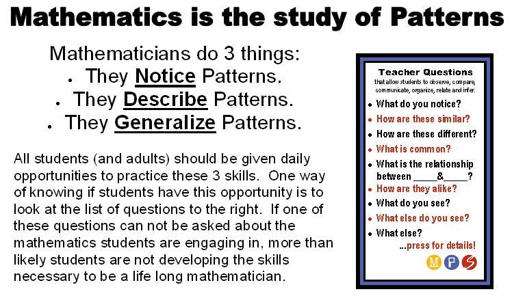 notice patterns