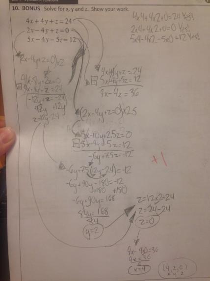 3 variables solved impressive