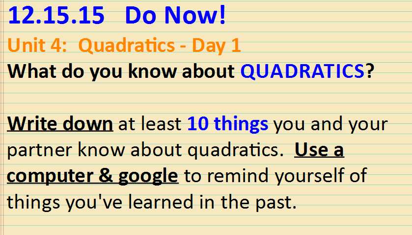 googling quadratics
