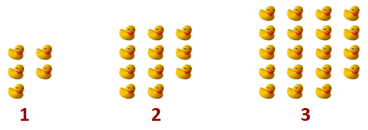 ducks in 3's