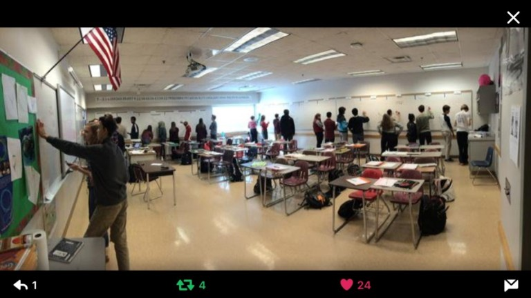 Mark's classroom