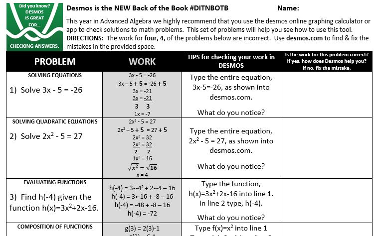 Desmos IS the new back of the book  (and not just for the